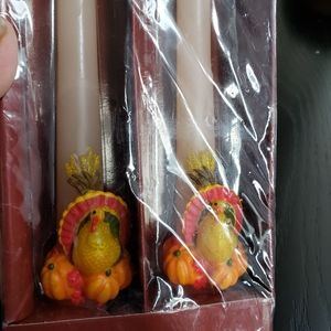 New Vintage Thanksgiving Turkey candle sticks